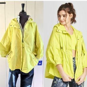 🖤2/$11 Neon hooded rain slicker NWT